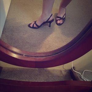 Pretty dress heels in dark brown